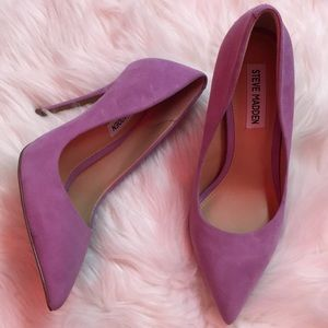 503946883bf Steve Madden Daisie lavender suede shoes sz. 6 NWT